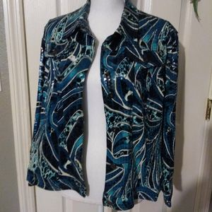 BLUES BUTTON JACKET CLEAR SEQUENCE
